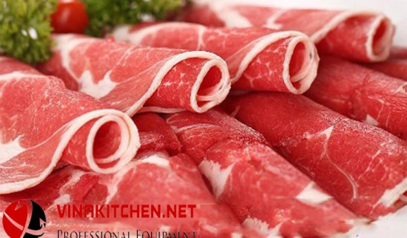 Tổng hợp ưu điểm của máy cắt thịt heo chuyên dụng