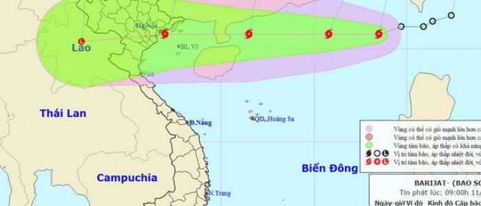 Cập nhật hành trình bão số 5 trên Biển Đông