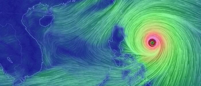 Siêu bão MangKhut mạnh cấp 17 đang tăng tốc vào Biển Đông, biển động dữ dội
