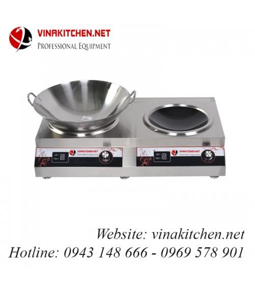 Bếp từ công nghiệp đôi lõm có hẹn giờ 3.5KW HZD-2X3.5KW-2AXS