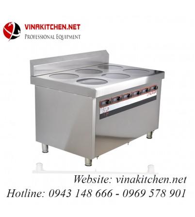 Bếp từ công nghiệp lớn 6 mặt phẳng có hẹn giờ 3.5KW HZD-6X3.5KW-LD6F