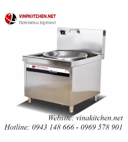Bếp từ công nghiệp lõm lớn có vòi rửa 20KW HZD-20KW-XDLD800