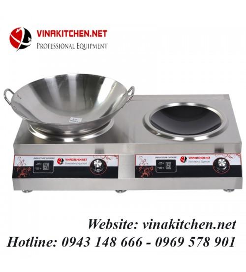 Bếp từ công nghiệp đôi mặt lõm 5KW HZD-5KW-2AXS