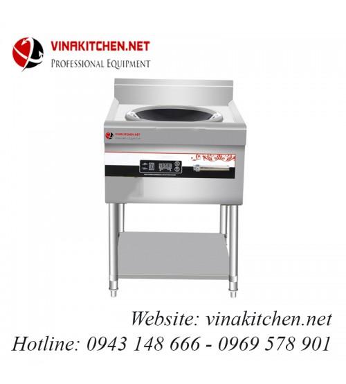 Bếp từ công nghiệp lõm có giá kệ có hẹn giờ 8KW HZD-8KW-ASCLX