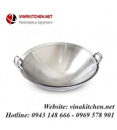 Chảo inox dùng cho bếp từ công nghiệp đường kính 46CM