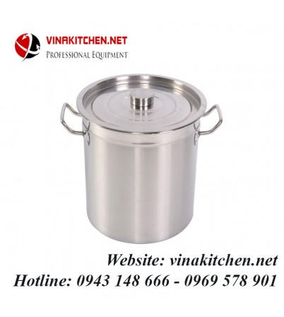 Nồi inox dùng cho bếp từ công nghiệp 160 Lít