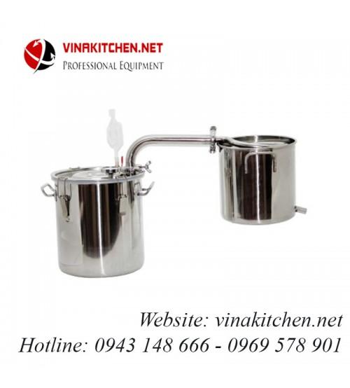 Nồi nấu rượu nồi chưng cất tinh dầu inox dùng gas, than, củi, bếp từ 20 lít NR-20