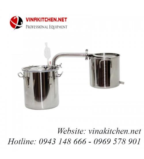 Nồi nấu rượu nồi chưng cất tinh dầu inox dùng gas, than, củi, bếp từ 70 lít NR-70