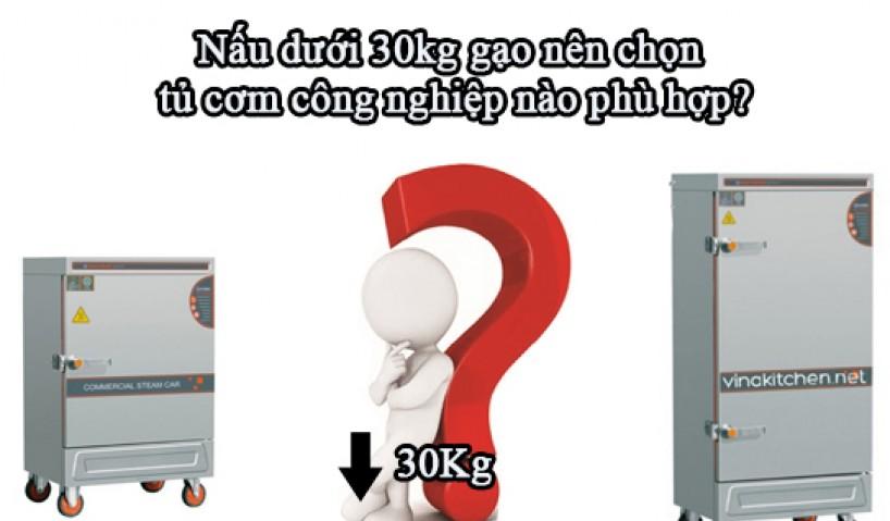 Nấu dưới 30kg gạo nên chọn tủ cơm công nghiệp nào phù hợp?