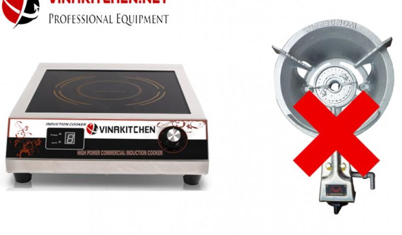 Bếp từ nhà hàng khắc phục được mọi hạn chế của bếp gas công nghiệp