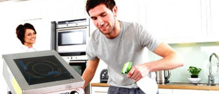 Hướng dẫn vệ sinh bếp từ công nghiệp đúng cách