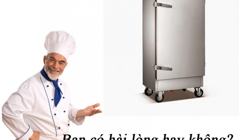Nấu cơm số lượng lớn trong thời gian ngắn bằng tủ nấu cơm  công nghiệp
