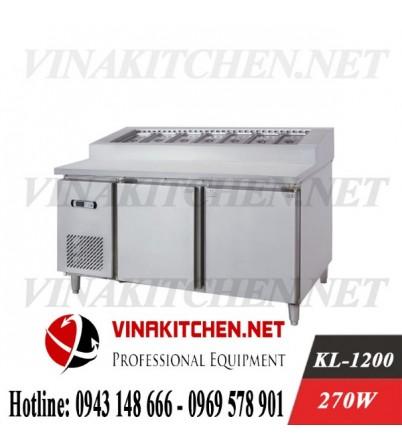 Bàn làm bánh Pizza - Tủ bày bánh Pizza KL-1200