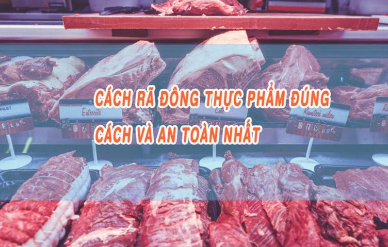 Hình 3: Những lưu ý cần tránh khi rã đông thịt